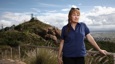 Former Queensland Nickel employee Sam Larkins on Castle Hill in Townsville.