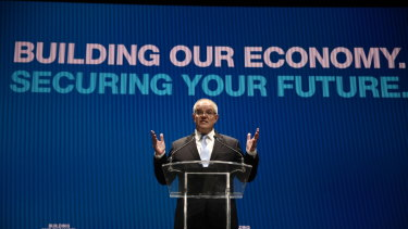 Scott Morrison lays out the Coalition agenda on Sunday.