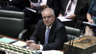 Prime Minister Scott Morrison in Parliament on Tuesday.