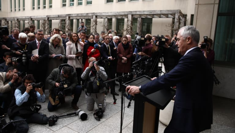 Mr Turnbull speaks says he will quit Parliament if he's dumped as Prime Minister.
