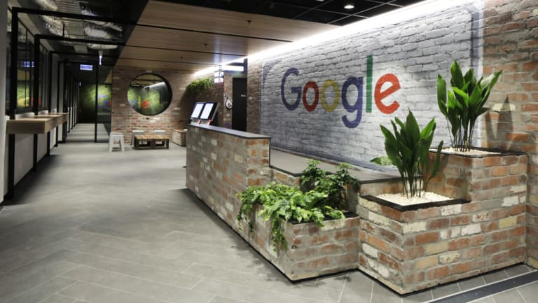 Google's office in Collins Street, Melbourne.