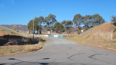 The site of the recently demolished 'Petrov Bridge' in Hume.