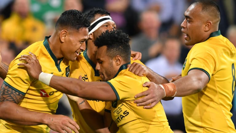 Sticking tight: Michael Cheika has kept faith with the players who got the job done against Ireland in Brisbane last week.