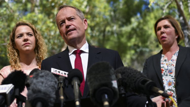 Bill Shorten denied Labor would increase taxes while speaking to the media on Tuesday - in apparent contradiction of his party's policy.