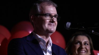 Labor leader Michael Daley concedes on Saturday night.