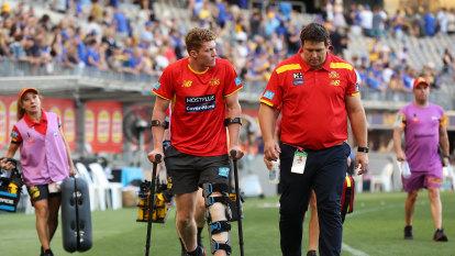 Suns star Matt Rowell injured as West Coast win season-opening thriller