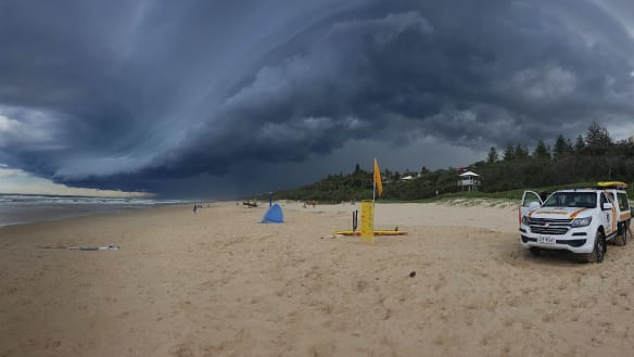 Train lines damaged, beaches closed after storms hit Sunshine Coast