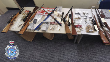 The haul allegedly recovered from the neighbour's house.