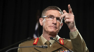 Angus Campbell said claims of war crimes committed by Australian soldiers in Afghanistan were deeply disturbing.