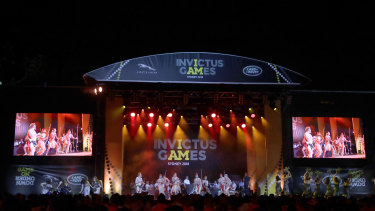 Welcome to country is performed at the Invictus Games Opening Ceremony in Sydney,