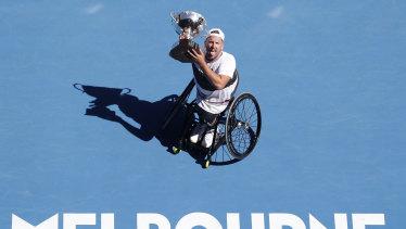 Alcott has won the Australian Open title five times.