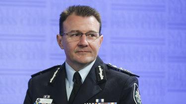 Australian Federal Police (AFP) Commissioner Reece Kershaw