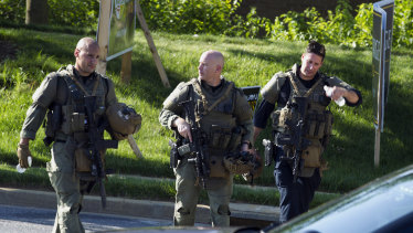 Maryland police officers at the scene.