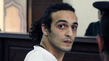 Egyptian photo-journalist Mahmoud Abou Zeid, known by his nickname Shawkan and pictured in 2015, was cleared for release in September after five years in jail, although his freedom was delayed because of 'processing'.