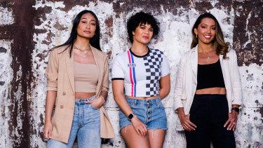 Elandrah Eramiha (left) Akina Edmonds and Chloe Zuel are returning to stage in Hamilton.