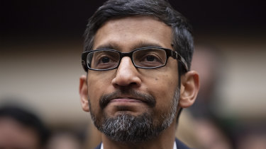 Google chief executive Sundar Pichai appears before the House Judiciary Committee.