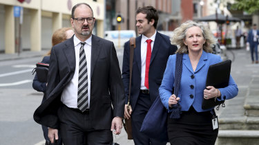 Defence lawyer Paul Yovich (left).