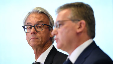 Sticking to their guns: FFA chief executive David Gallop and chairman Chris Nikou.