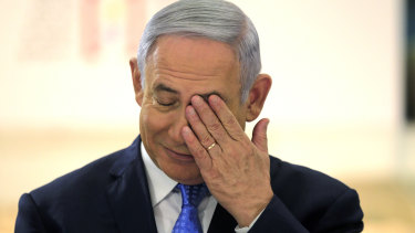 Israeli Prime Minister Benjamin Netanyahu chairs a special cabinet meeting marking Jerusalem Day on Sunday.