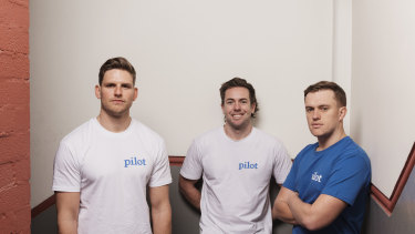 Benny Kleist, Charlie Gearside and Tim Doyle are three of the four minds behind Eucalyptus, which runs telehealth brands Pilot and Kin.