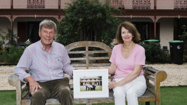 Jill and Joachim Osthoff at their Elanora Heights home.