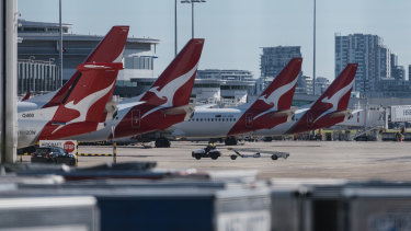 Aircraft have been banking up at Sydney Airport.