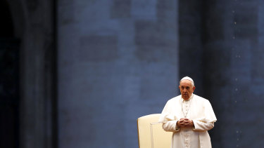 Pope Francis delivers an Urbi et orbi prayer from the empty St. Peter's Square.