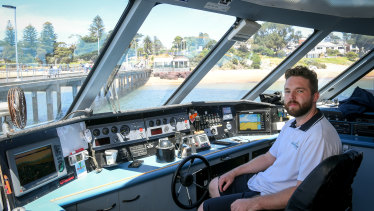 Ben Dickie from Wildlife Coast Cruises at the Cowes Jetty, Phillip Island.