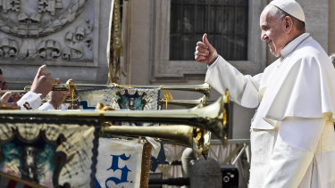 Pope Francis at the Vatican. The Church has had an enormous influence on Western culture.