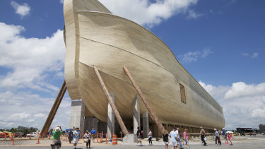 Rain damage has caused havoc at the Ark Encounter theme park in Kentucky.