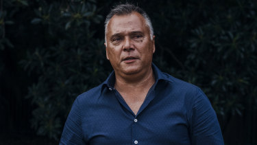 Stan Grant outside Butcher and the Farmer in Forest Lodge in April.
