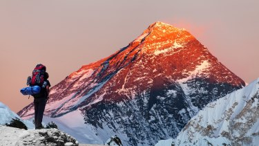 Mount Everest in the evening.