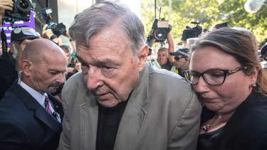 George Pell on his way into court last week