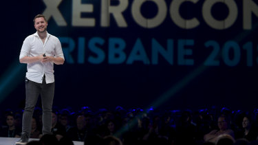 Mark Manson speaking at Xerocon in Brisbane 6 September 2018.
