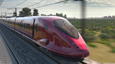 Artist impressions of the new high-speed trains.