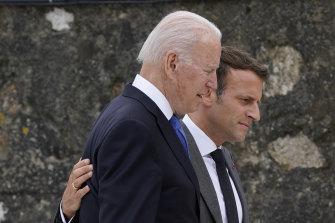 Emmanuel Macron openly welcomed Joe Biden's election and praised him at G7.