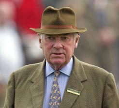 Lord Vestey at Cheltenham racecourse, 2009.