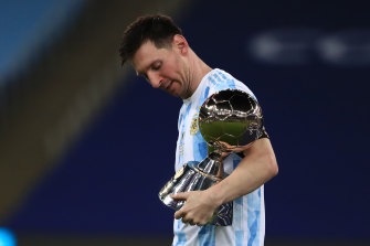 Lionel Messi after Argentina's Copa America victory last week.