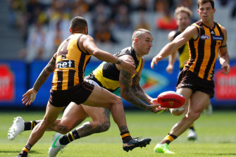 Dustin Martin's Tigers were too good for the Hawks on Sunday.