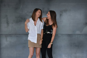 Olivia Bury and Melanie Hawthorne are among the Melburnians signed up to a start-up style dating night.