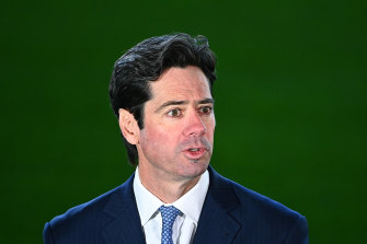 AFL CEO Gillon McLachlan estimates any debt the league accrues in the wake of COVID-19 will be repaid within a few years.