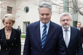 Michaelia Cash, Mathias Cormann and Mitch Fifield were among the minsters who tendered their resignations after switching support away from Mr Turnbull.