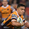 Under the pump: Kodi Nikorima can play a key role in Brisbane's revival... but it might not be in the number seven jersey.