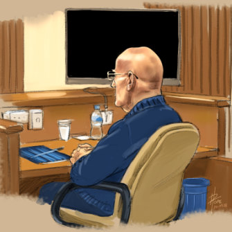 David Eastman in court.
