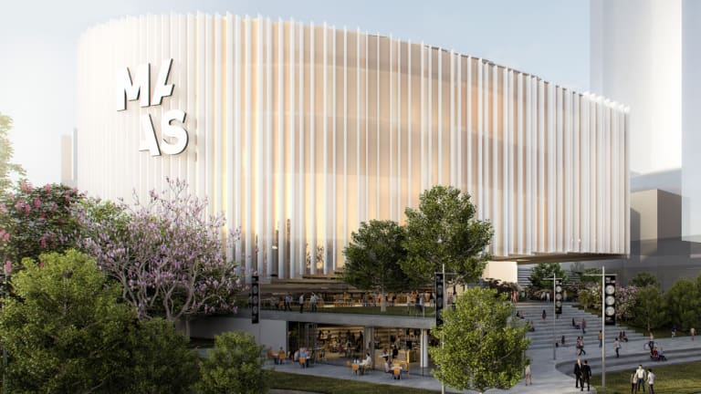 An artist's impression of the new  Powerhouse  Museum to be built in Parramatta.