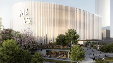 An artist's impression of the new  Powerhouse  museum to be built in Parramatta