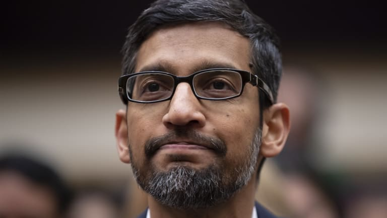 Google Chief Executive Sundar Pichai appears before the House Judiciary Committee.