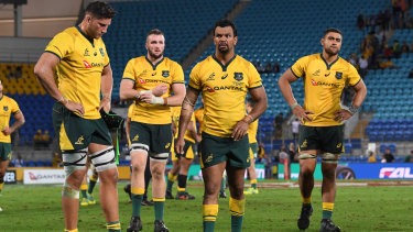 The Wallabies' clash with Argentina on the Gold Coast last year drew a poor crowd.