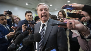 """""""A smoking saw"""": Lindsey Graham, a frequent ally of President Trump, is convinced the Saudi crown prince was involved in the death of Jamal Khashoggi."""