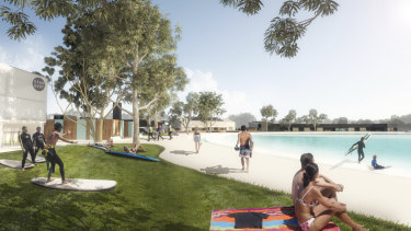An artist's impression of the Urbnsurf site.